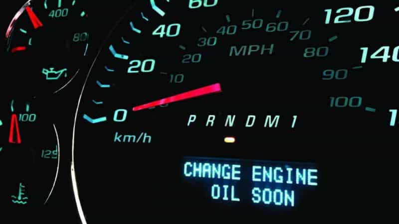 Check engine light appearing on a customer's dashboard