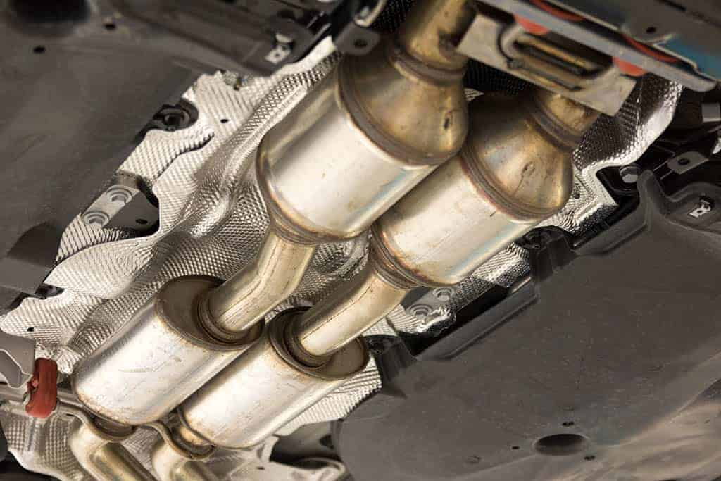 Catalytic Converter under a customer's car in Mays Landing