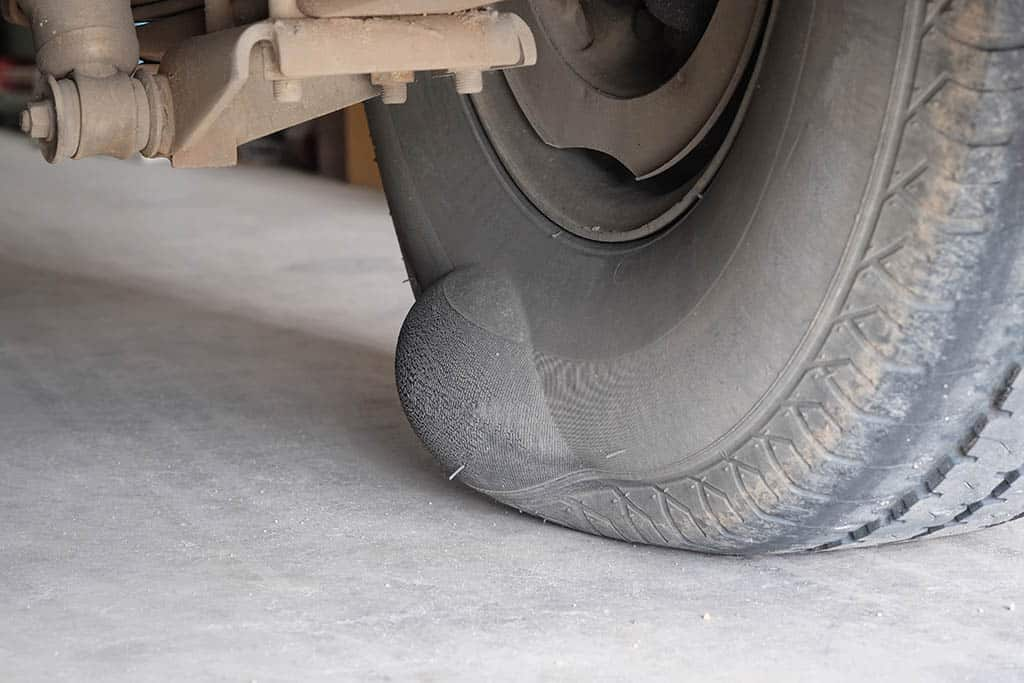 A bubble on the inside of a customer's tire in Mays Landing, NJ