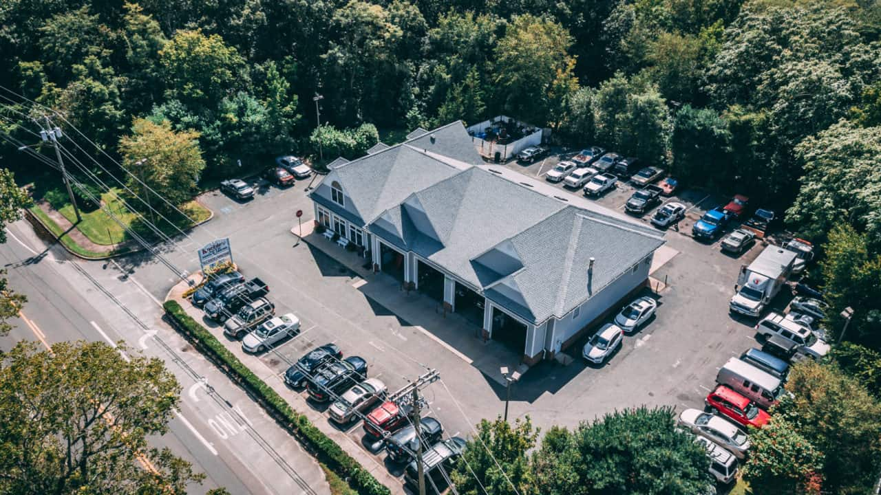 Aerial view of Kneble's Auto Service Center