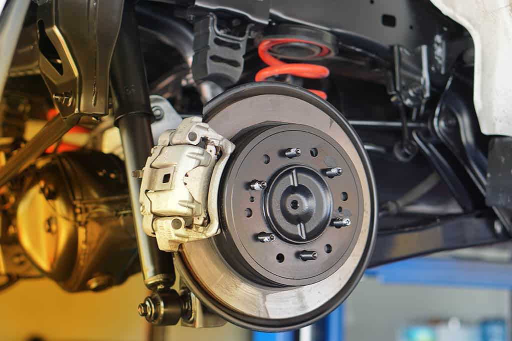 Disc brake of the vehicle that had a brake replacement in Mays Landing, NJ