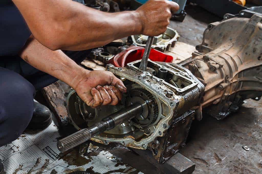 Our auto mechanic performing a repair on a customer's transmission in Mays Landing, NJ