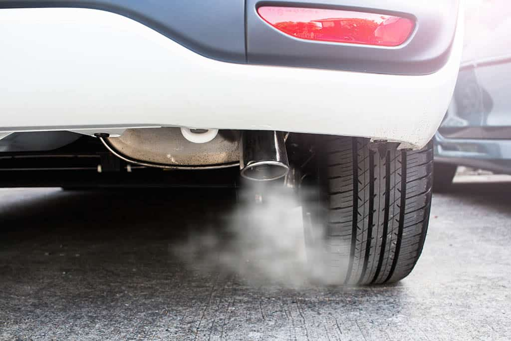 Car exhaust coming out of a customer's car in Mays Landing, NJ
